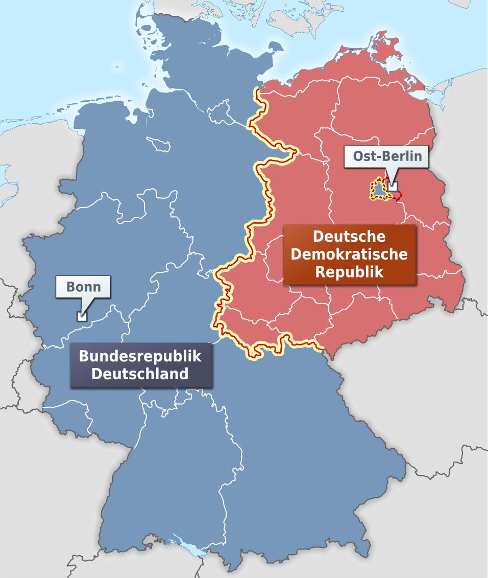 deutsche mauer karte Nach der Gründung der Bundesrepublik Deutschland und der Deutschen