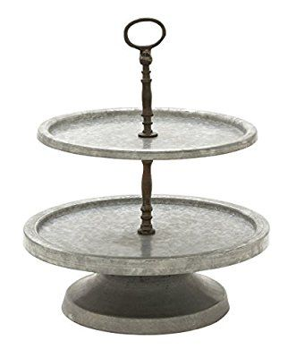 Deco 79 49188 Metal 2 Tier Tray Stand 15 X 17 Tiered Tray Stand Tiered Cake Stand Tiered Stand