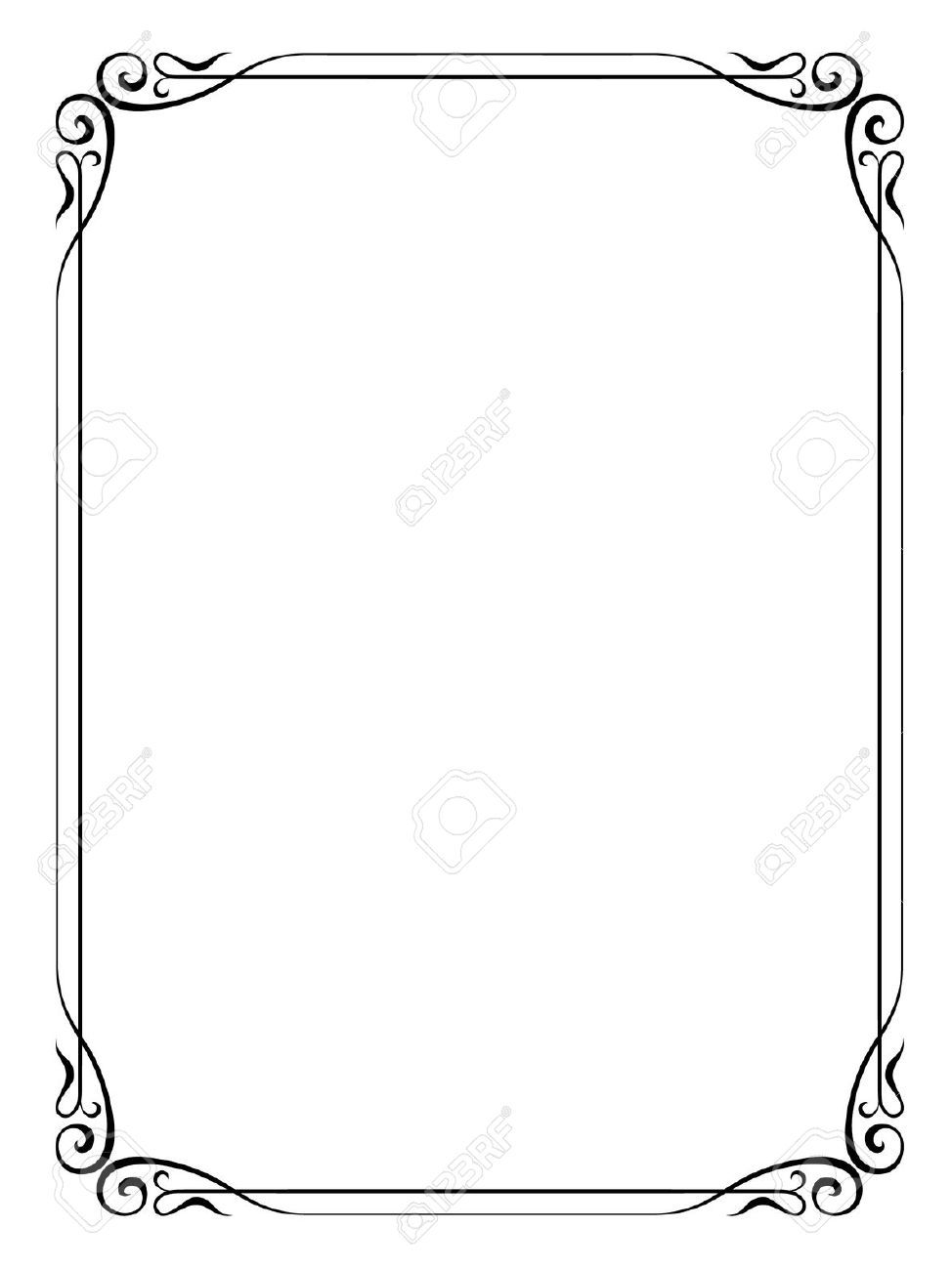 formal black and white borders for word - Google Search | Boarders ...