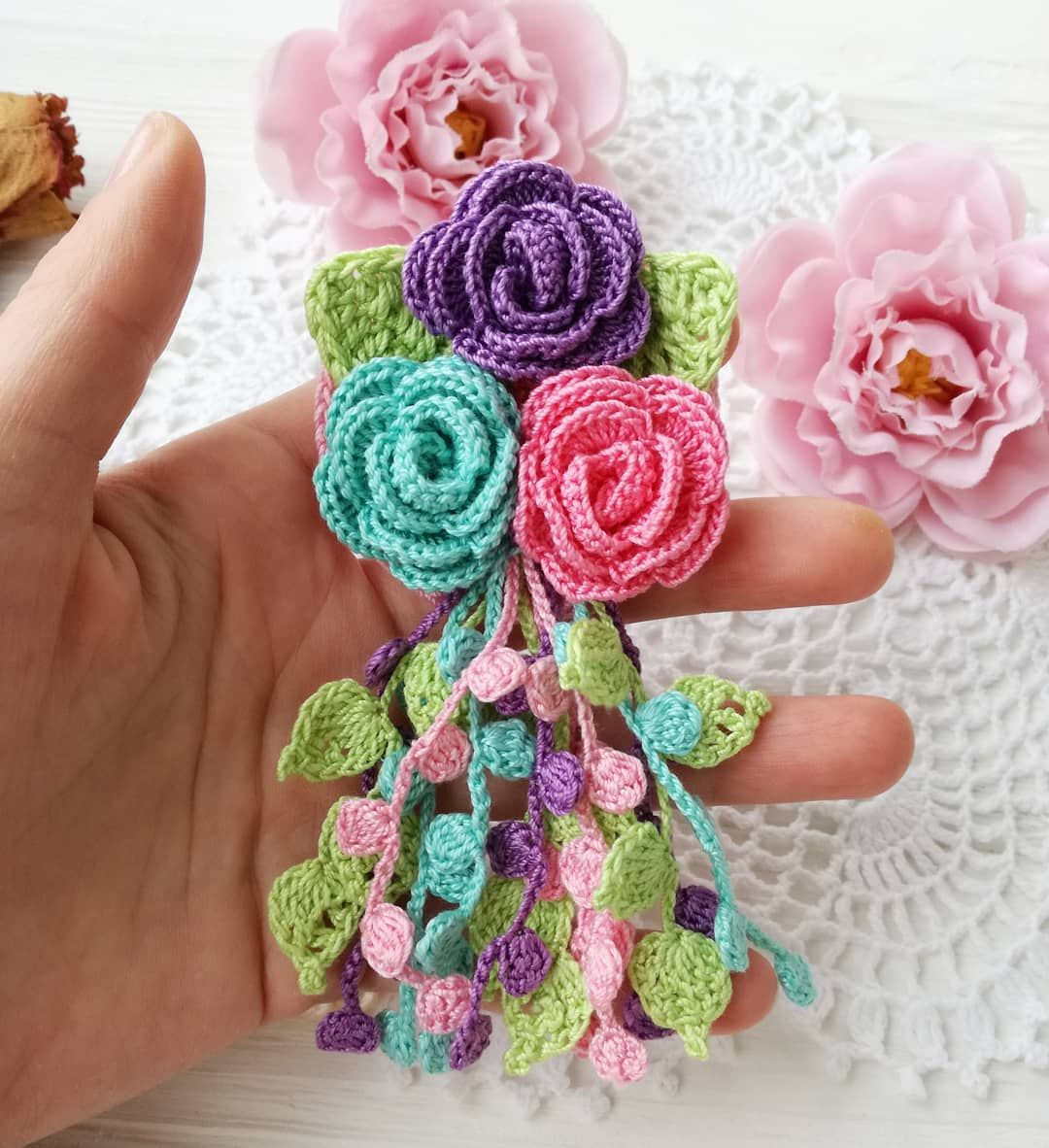 53 Crochet Flower Patterns And What To Do With Them Easy 2019 - Page 24 of  58 - Crochet Blog!