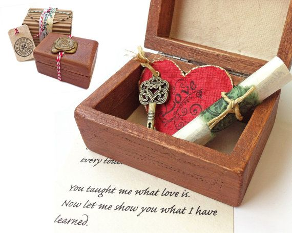 Long Distance Relationship Personalized Christmas Gift Idea Boyfriend Girlfriend Love Box Key To Your Heart And A Short Note 45 00 By Dafna