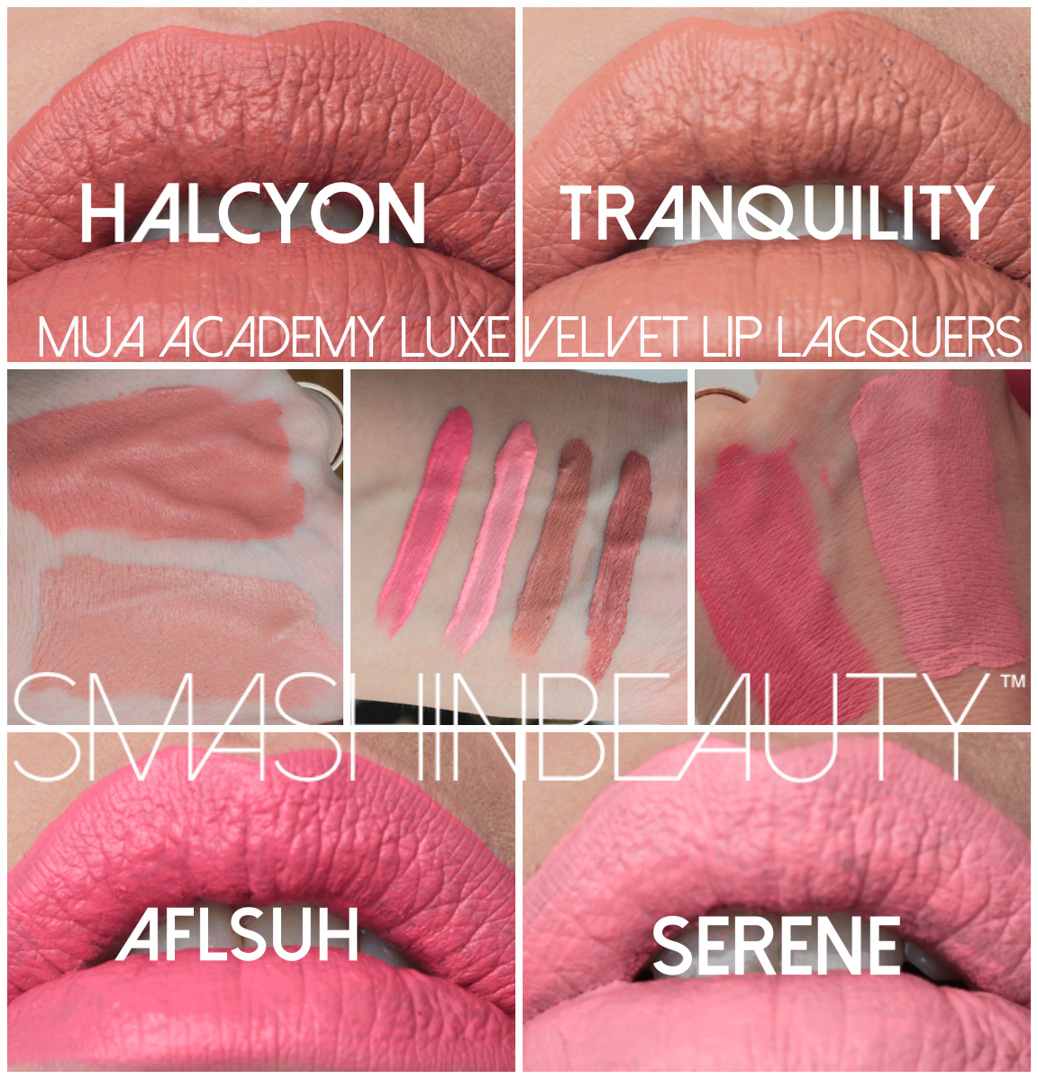 MUA academy luxe velvet lip lacquers in tranquility
