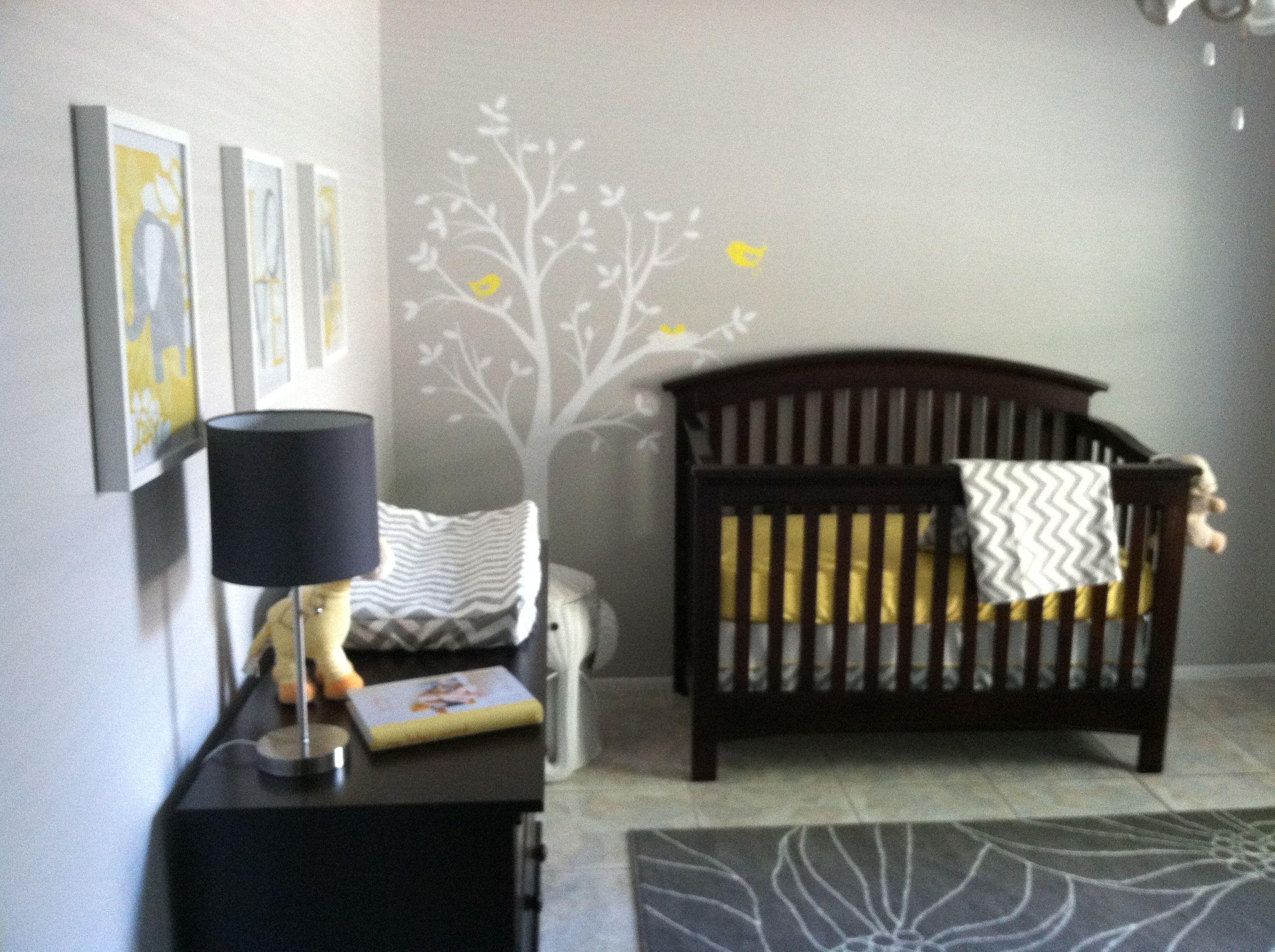Our Baby S Nursery Nursery Dark Furniture Baby Boy Room