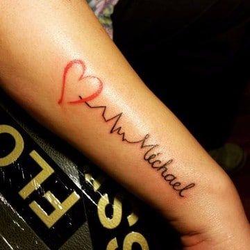 Disenos E Imagenes De Nombres Tatuados Para Hombres Tatuaje Latido Tatuajes De Nombres Tatuaje Nombre Muneca