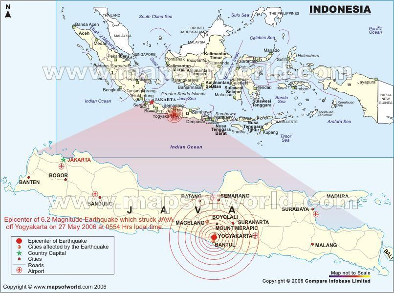 Indonesia indonesia java earthquake 27 may 2006 yogyakarta earthquakes in indonesia map showing the location of all the major earthquake occured in history of indonesia gumiabroncs Choice Image