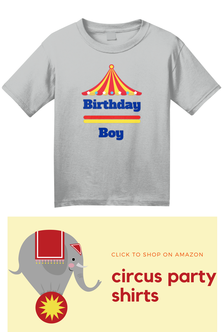 Birthday Boy Circus Carnival Party Shirt Perfect Outfit For A Theme Little Or Just Cute To Wear On His