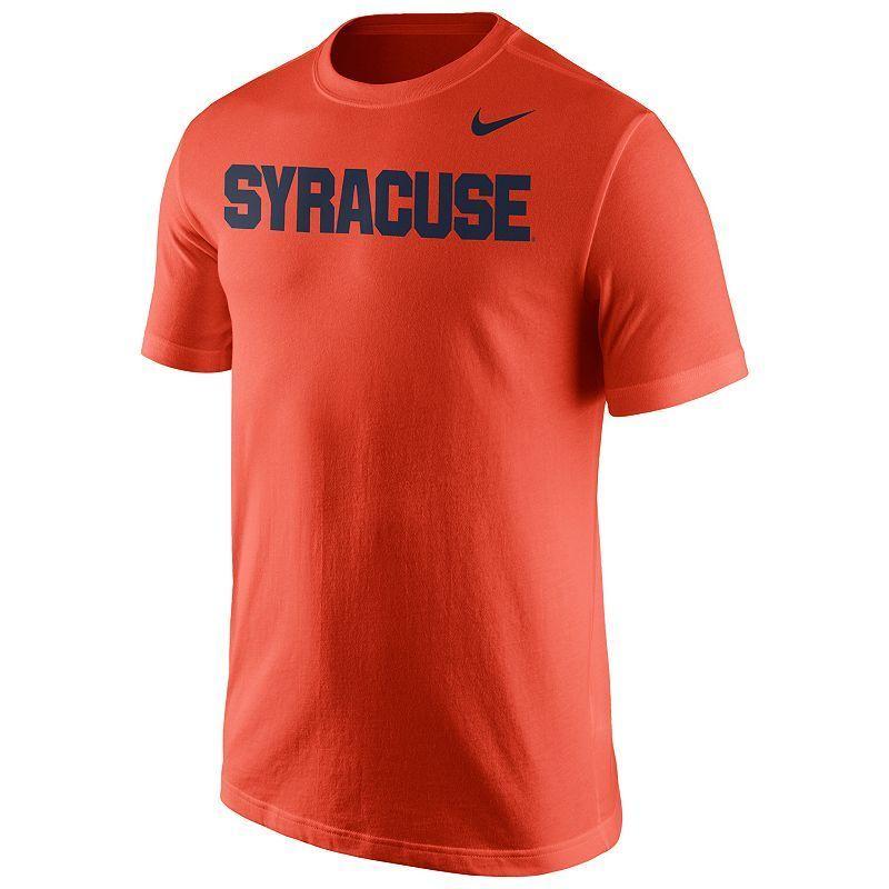 super popular 51bdc 44d4a Men s Nike Syracuse Orange Wordmark Tee, Size