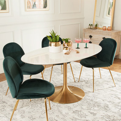 Damon Dining Table 60 Oval Dining Room Small Apartment