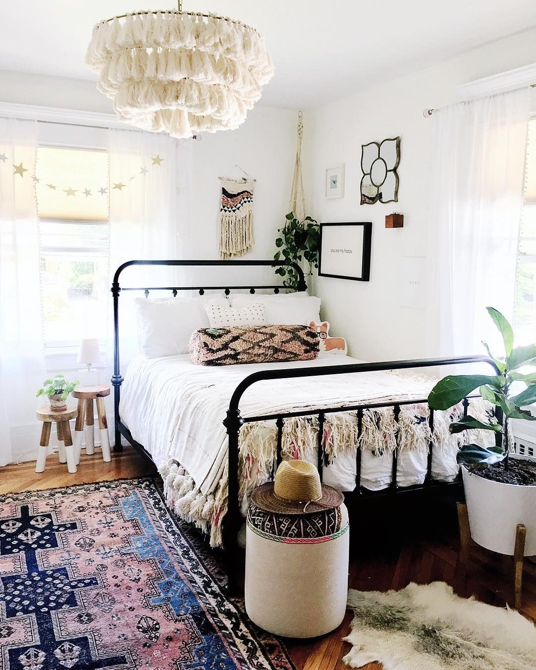 Fela Tassel Chandelier Eclectic Bedroom Simple Bedroom Eclectic Decor Bedroom