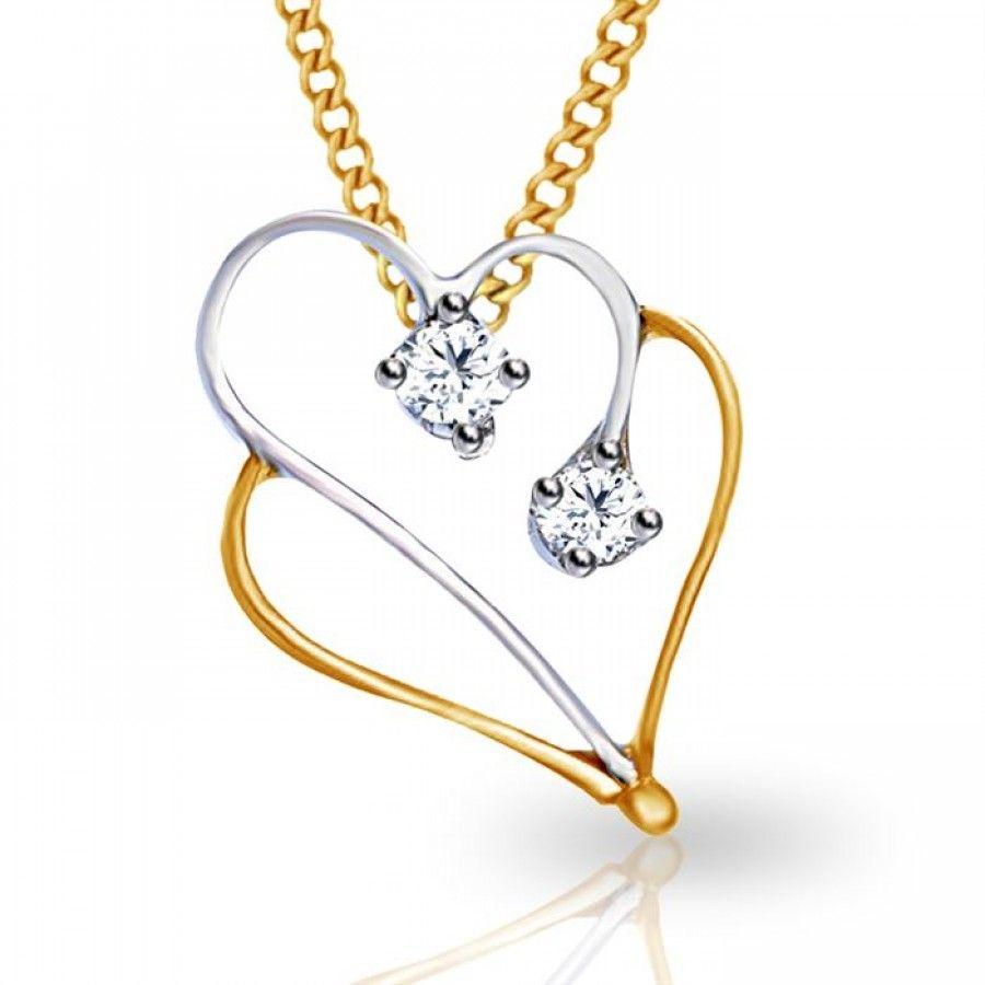 certfied diamond pendant #heart shape diamond pendant #buy online ...