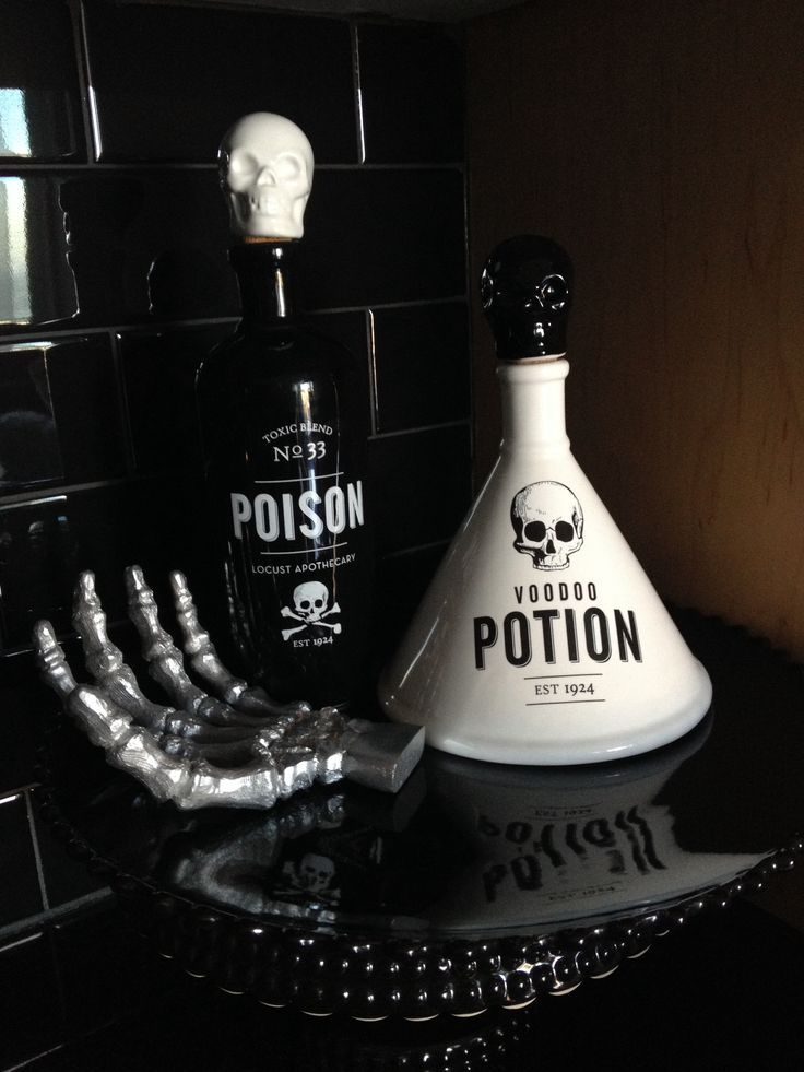 gothic kitchen accessories diy vignette halloween potion bottle - Halloween Kitchen Decor