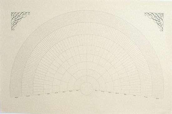 Blank 3 Generation Family Tree Fan Chart Digital File Only