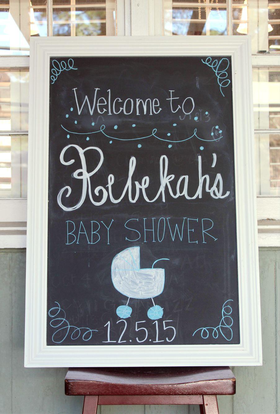 Baby shower chalkboard