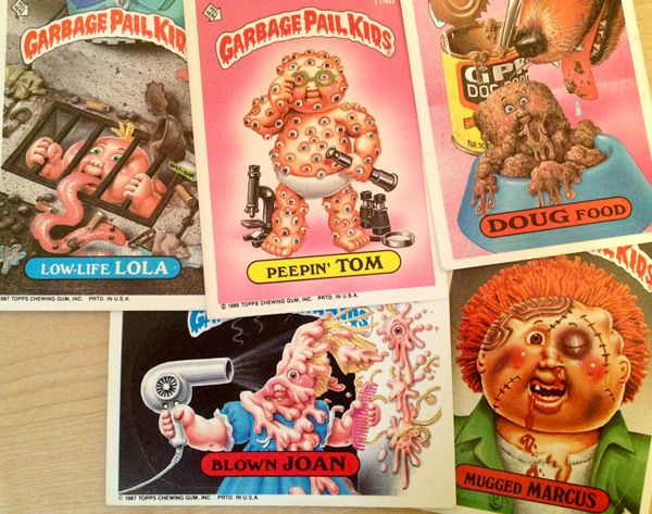 Gross Garbage Pail Kids cards from the '80s | 80s Toys
