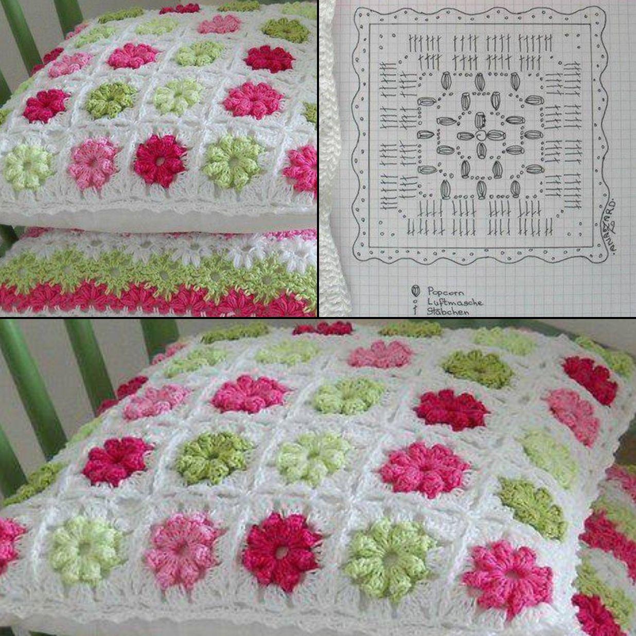 DIY. CROCHET PATRON DE ALMOHADON | cojines | Pinterest | Crochet ...