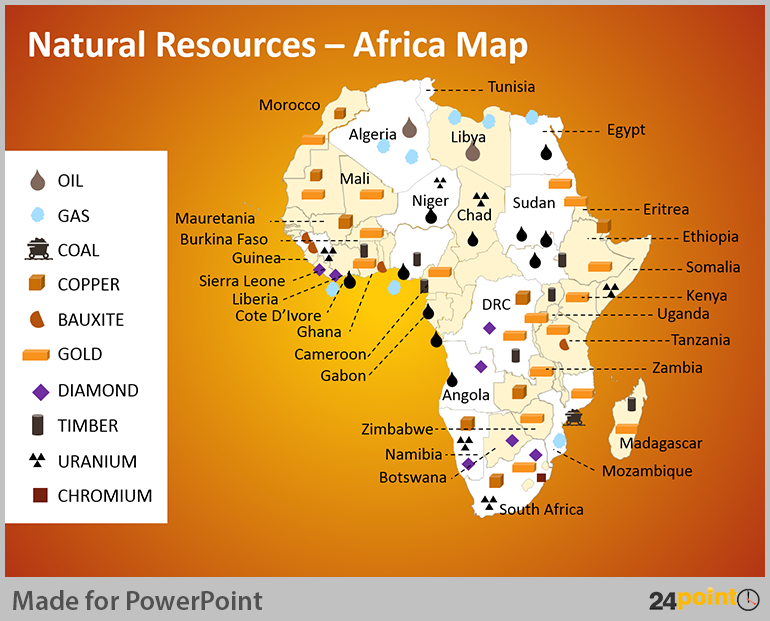 Africa Resource Map | Map Of Africa