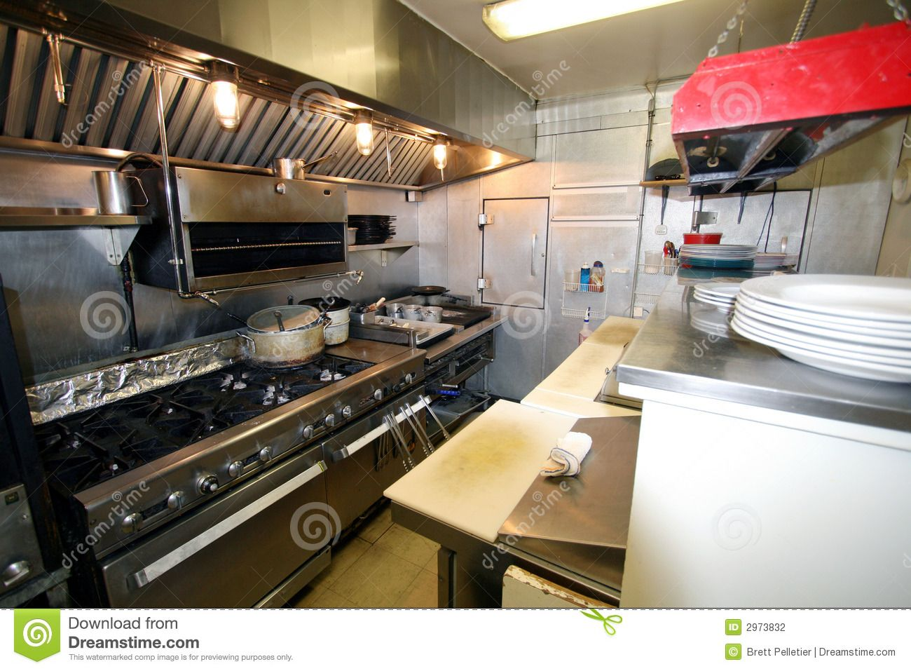 small restaurant kitchen stock photography small kitchen in a