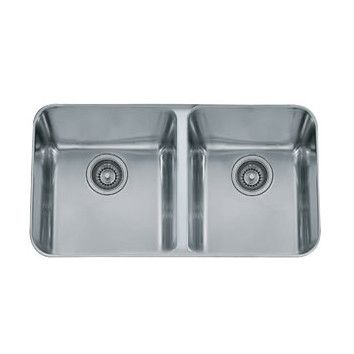 Franke 32 75 X 19 5 Largo Double Bowl Kitchen Sink Stainless
