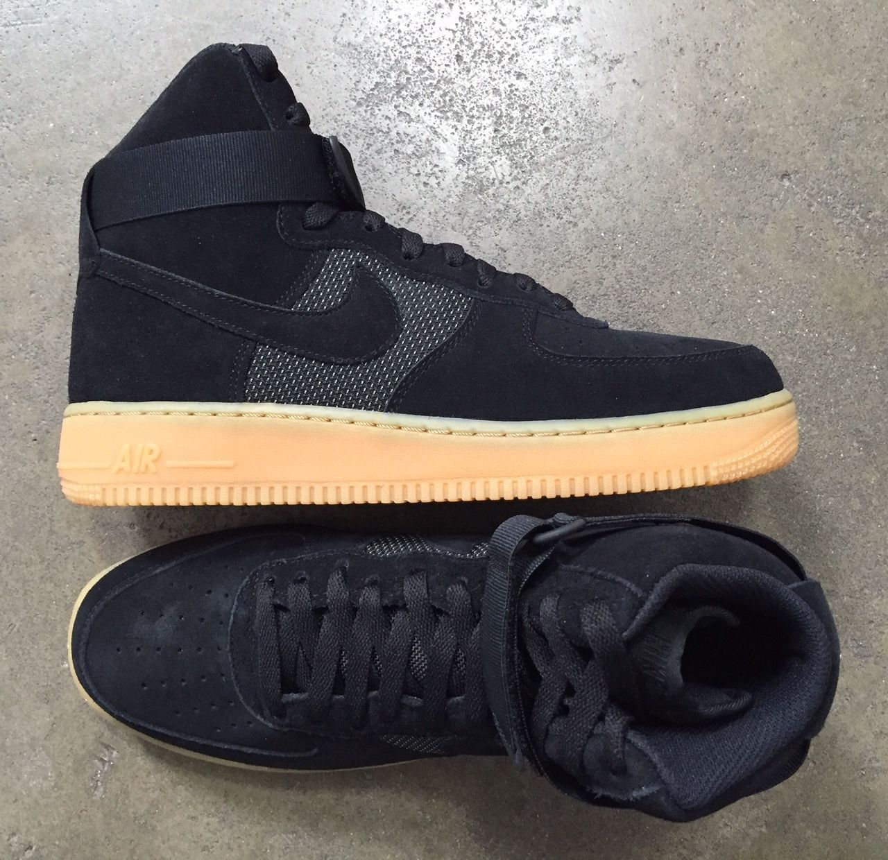 Nike Air Force 1 High LV8 Black Gum Light Brown size 9.5 (  806403-003) 98b63ec01e