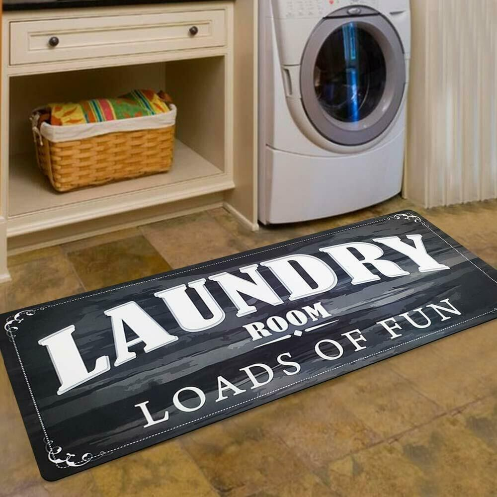 Details About Washroom Laundry Rug Room Decor Loads Fun Rug Floor