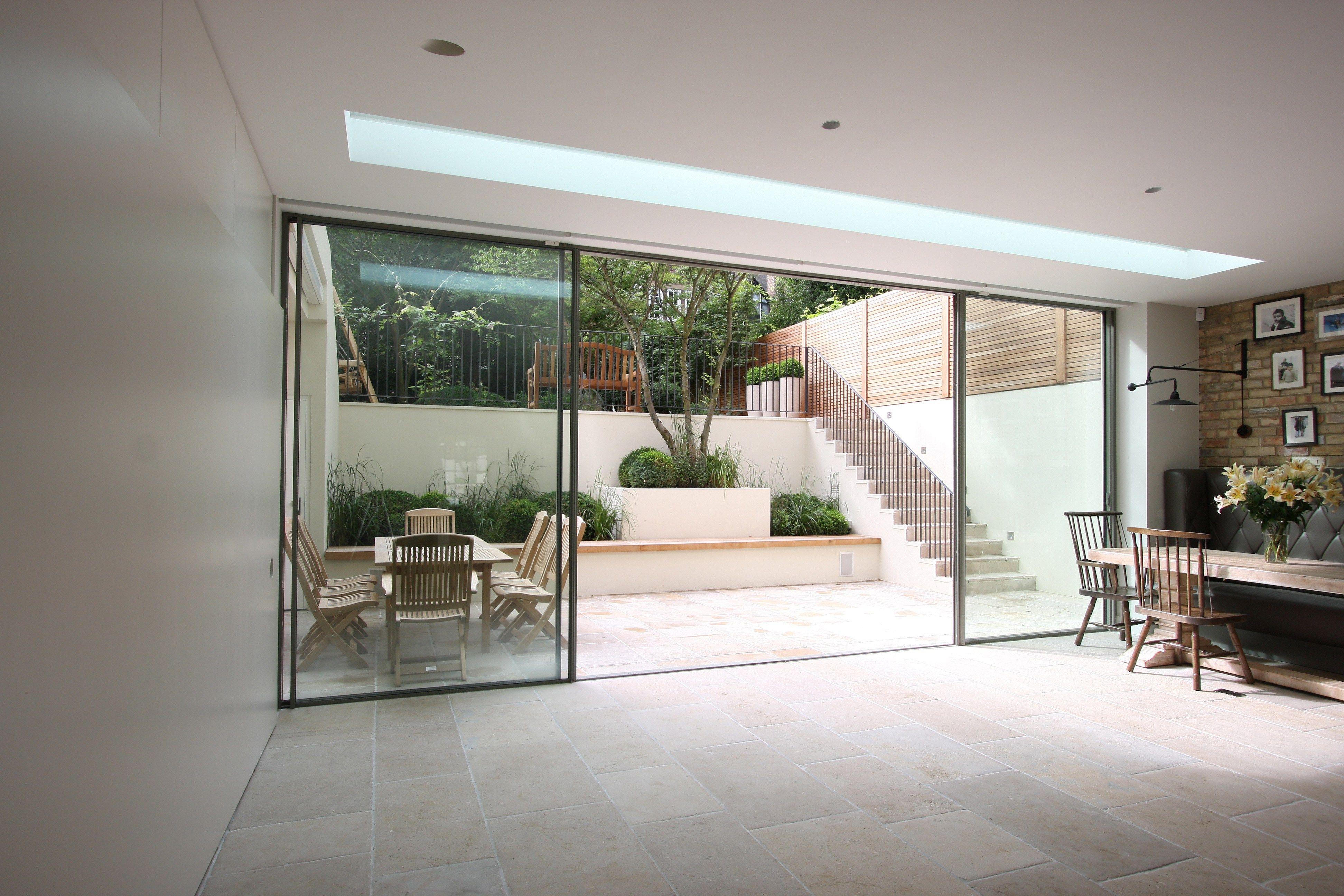 Minimal Windows As Modern Patio Doors In London Modern Patio Doors Glass Doors Patio Folding Patio Doors