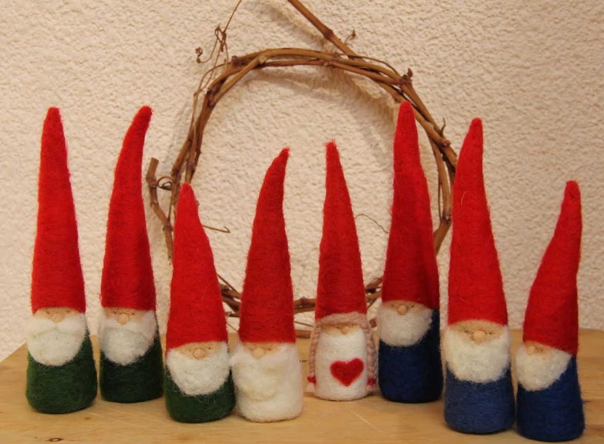 felted christmas gnoms