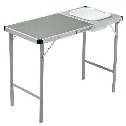 Camp Table With Sink Portable Kithcen Oztrail Camping