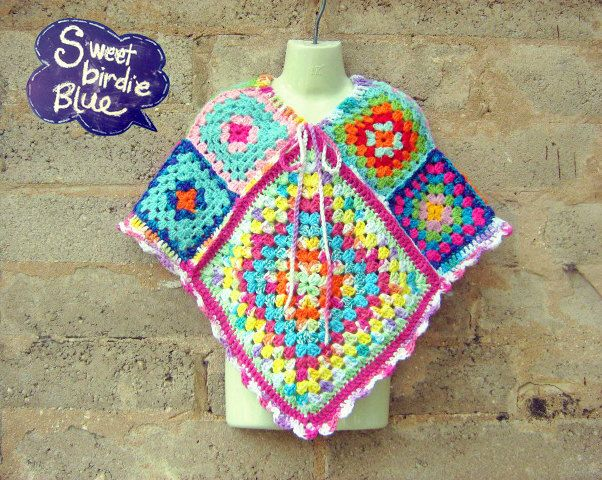 sweet-birdie-blue amazingly colourful poncho's just divine!!