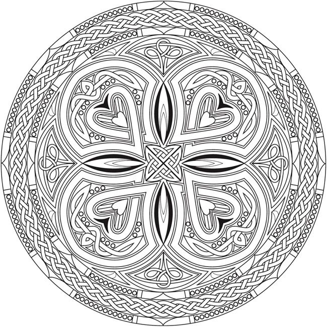 Welcome To Dover Publications From Creative Haven Celtic Mandalas Coloring Book