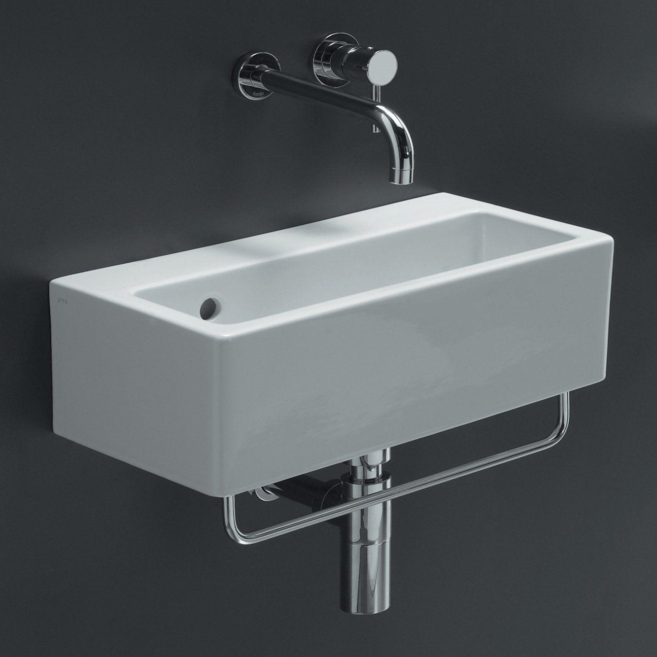 Bissonnet 20140 Wall Mount Bathroom Sink White 10 6 W X 19 7 L X 6 7 H 493 Ceramic Bathroom Sink Contemporary Bathroom Sinks Wall Mounted Bathroom Sink [ 1333 x 1333 Pixel ]