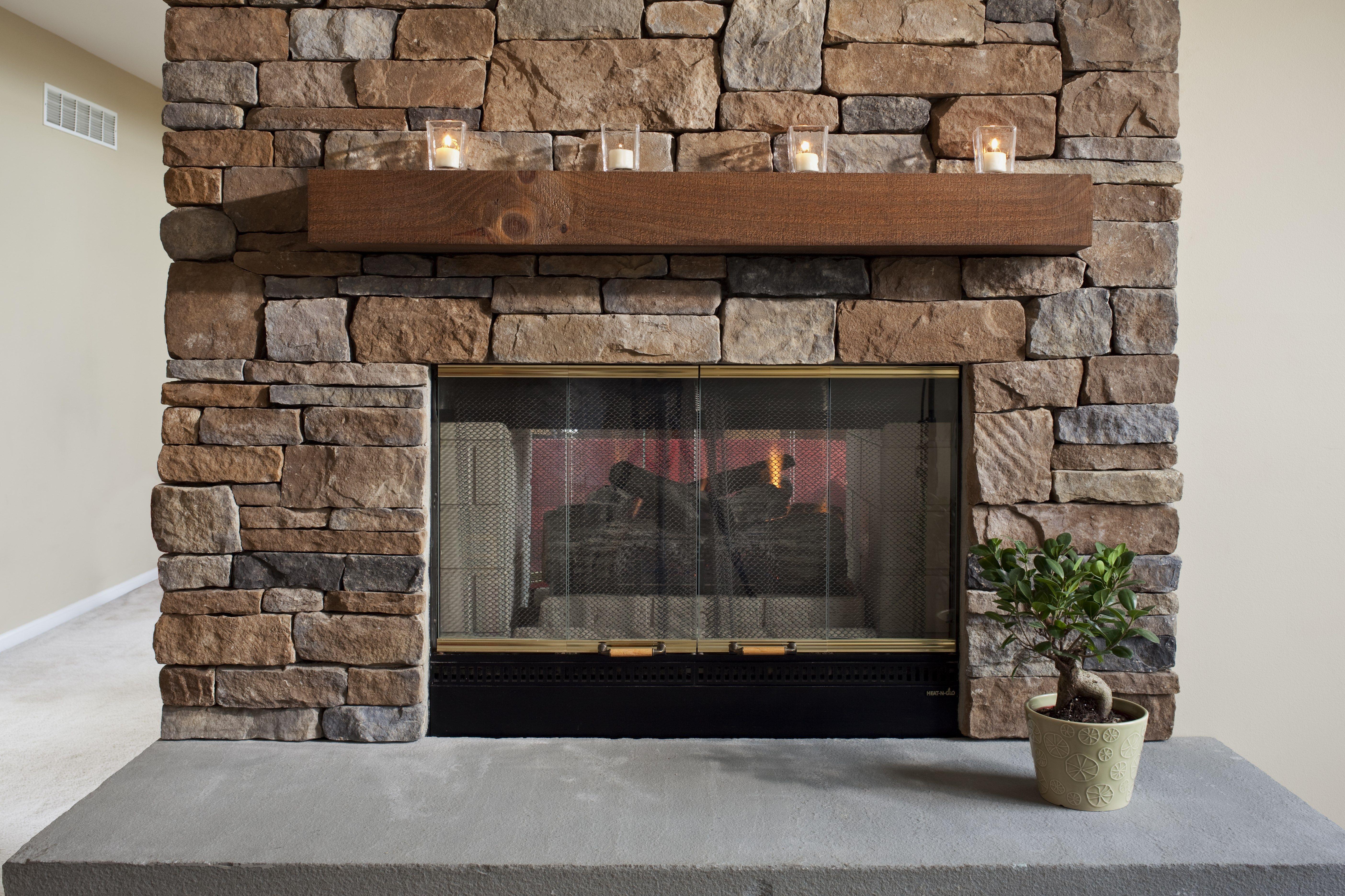 Ep Henry Case Stone Veneer On Interior Fireplace