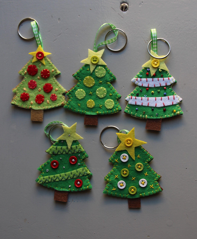 Keychain  Key Ring  Christmas  Tree  Decoration
