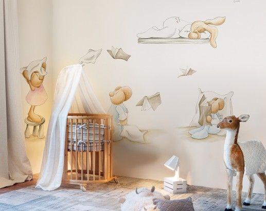 Coordonne dormitorios infantiles pinterest papel pintado infantil decorar pared Papel pintado habitacion infantil