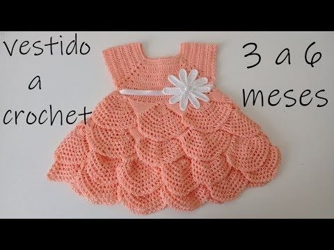 Beautiful Crocheted Baby Dress #vestidosparabebédeganchillo