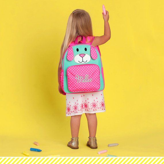 Personalized Toddler Girls Puppy Backpack - Preschool  1abac48ea270f