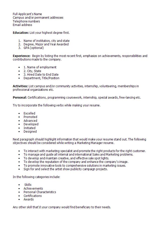 Marketing Director Resume  Cv Marketing Officer Market Management