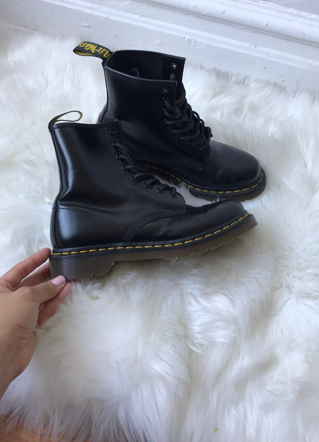 Never used Smooth black boots | Boots, Black boots, Combat boots