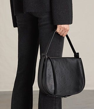 ed68ed6a3dc7e ALLSAINTS UK  Womens Echo Mini Hobo Bag (Black)