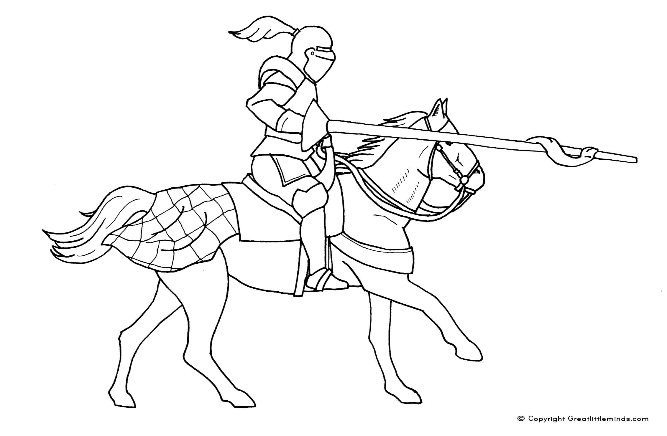Dragon coloring pages realistic knight colouring page