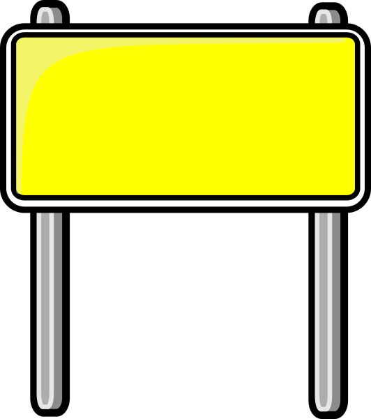 Highway Sign Yellow Highway Signs Road Signs Signs