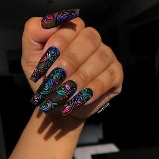 vibe on different level 👼🏾  rainbow nails rainbow nail