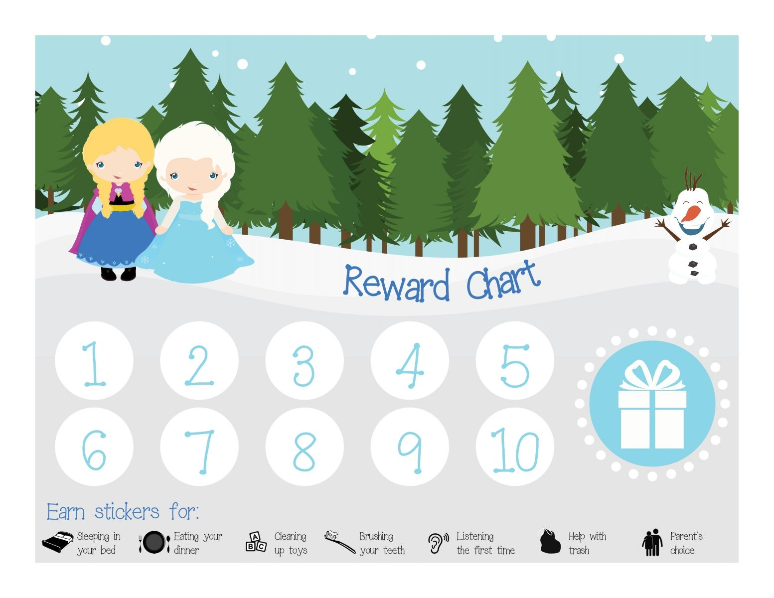 A Free Reward Chart From Thrifty Mom