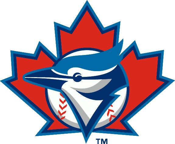 Toronto Blue Jays Alternate Logo 1997 A Blue Jay Head On A Baseball Over A Maple Leaf Toronto Blue Jays Logo Blue Jays Baseball Mlb Team Logos