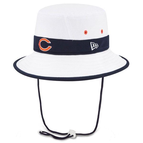 Chicago Bears New Era NFL 2015 Training Camp Bucket Hat-White ... a5bb41590