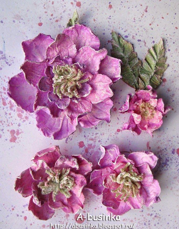Всем привет :) Хочу показать как делала вот такие цветочки ...  Цветочки Розы