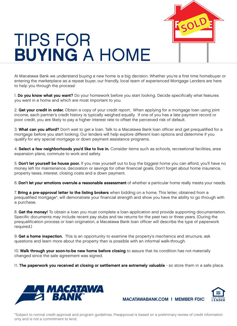 Home Buying Tips  Some Day Again  Real Estate
