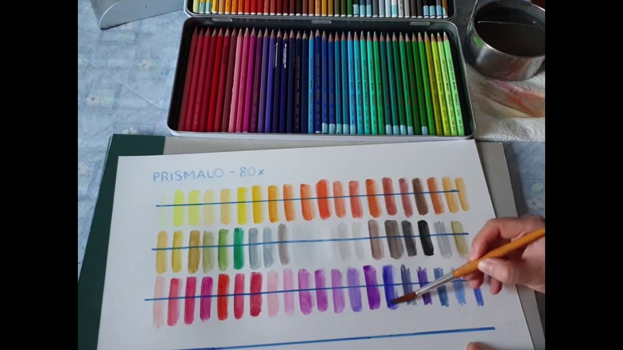 Colour Chart For Caran D Ache Prismalo Pencils Kleurkaarten