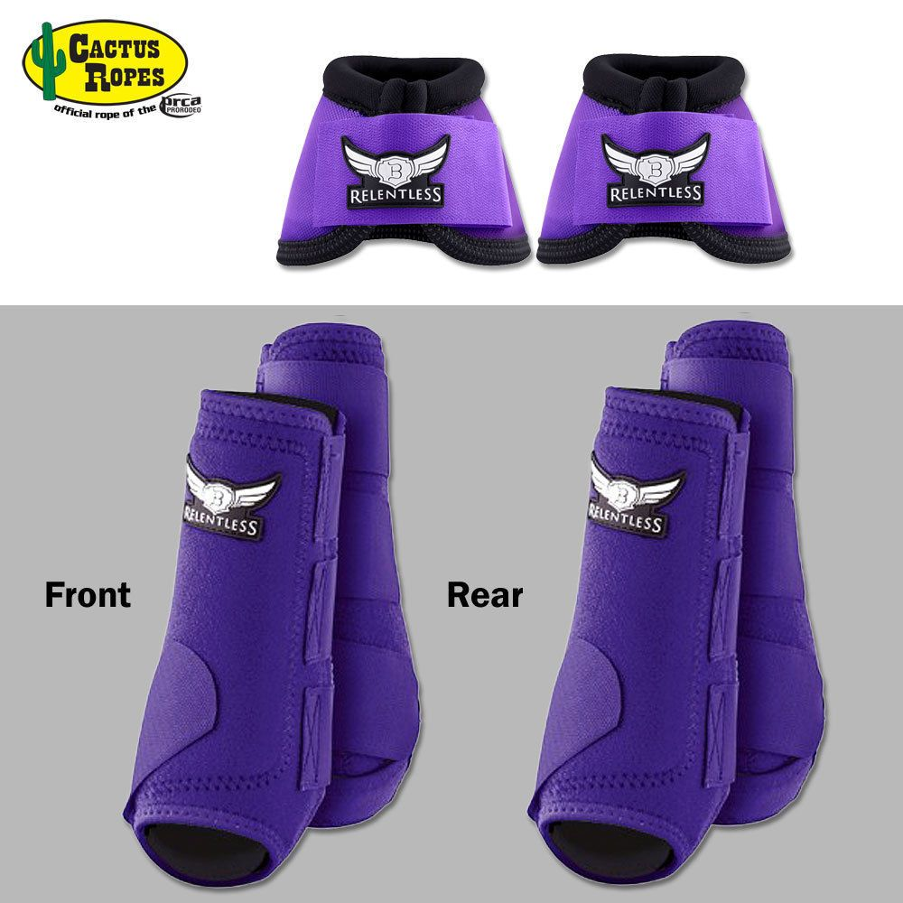 5134ae17f309b LARGE PURPLE CACTUS ROPES TREVOR BRAZILE FRONT REAR SPORT BELL BOOT ...