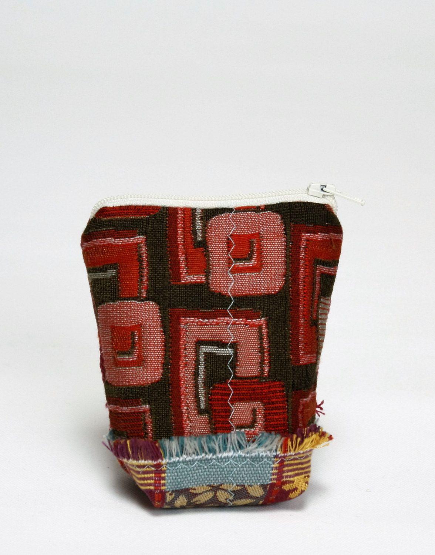E-24 Maruca fabric remnant zipper bag, coin purse, credit card ...