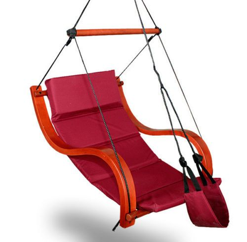 New Deluxe Hammock Air Chair Burgundy Padded Hanging Chair Lounge Outdoor Patio Pool And Patio Renovations Air Chair Chair Hanging Chair